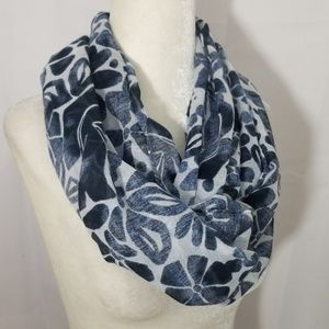 Infinity Scarf Ann Taylor LOFT Outlet Blue Floral